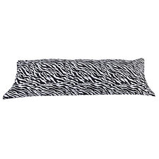 "NEW Zebra Black White Body Pillow Cover Case for 20"" X 60"" Pillow Double Zipper"
