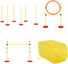 NEW Portable Dog Obstacle Course Backyard Agility Set with Adjustable Weave