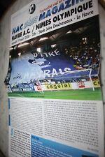 HAC MAGAZINE N°73 PROGRAMME )) LE HAVRE V NIMES OLYMPIQUE )) saison 2000/2001