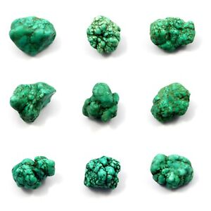 Treated Green Turquoise Rough Healing Nugget Minerals Specimen NG14506-14550