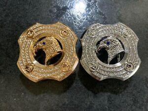 DESIGNER EAGLE DIAMONDS MENS WOMENS PIN BUCKLE ONLY FOR 38 MM BELTS BELT BUCKLES