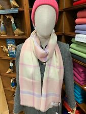 100% Pure New Wool Pashmina | Lochcarron | Made in Scotland | Pink White Check