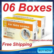 6 Boxes Ich Than Vuong 30 Tablets - Herbal Food Supplement For Kidney Health.