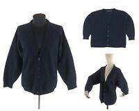 Men's RALPH LAUREN BLACK LABEL Wool Long Sleeve Cardigan Sweater Jacket Size XL