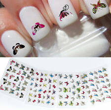 24 Sheets 3D Butterfly Nail Art Stickers DIY Decals Manicure Decoration