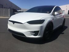 BlingLights Tinted Head & Fog Lamp Overlays Protective Film Covers Tesla Model X