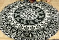 Roundie Cotton Indian Mandala Ombre Decor Rug Round Special Beach Towel Yoga Mat