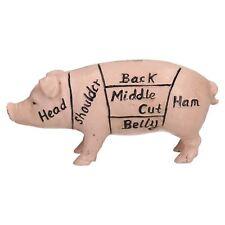 Harrisons Hams Pig Hog Butchers Money Bank Box Cast Iron Coin Change Jar