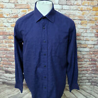 BUGATCHI UOMO PAISLEY COTTON LONG SLEEVE SHAPED FIT CASUAL SHIRT SIZE L A98-10