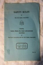 1974 SAFETY RULES Girl Guide Association Including Joint Scout Activities