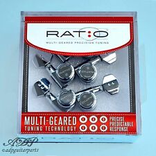 Mécaniques GraphTech 6x RATIO 12:1to 39:1 6L Chrome LOCKING TUNERS PRL-8721-C0