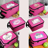 Personalised Pink Kids School Sandwich Lunch Box Insulated Cool Bag For Girls