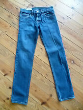 HOLLISTER W28 L30 MENS BLUE DENIM SUPER SKINNY JEANS BUTTON FLY GOOD CONDITION