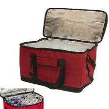 X LARGE 30 LITRE 60 CAN INSULATED COOLER COOL BAG COLLAPSIBLE PICNIC CAMPING RED