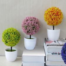 Artificial Fake Planter Potted Ball Plant Bonsai Office Home Garden Decor