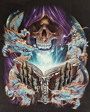 Harley Skull Mystic 3d t-shirt M L XL 2xl 3xl Fiction Black Glow in the Dark