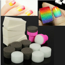 Set Tampon Stamping Ongle Eponge Vernis Dégradé Déco Sponge Manucure Nail Art PR