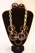 Necklace & Earrings Set Premium Fashion Jewelry Lg Link Gold Tone Chain JXCS New