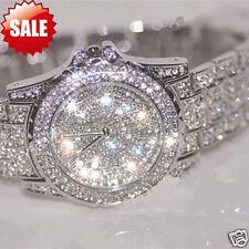Luxury Womens Watch Rhinestone Ceramic Crystal Stainless steel Quartz watches US