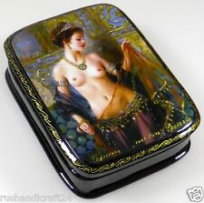 """1001 Nacht"" Russische Lackmalerei Schatulle Russian lacquer box Lackdose"