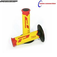 NEW PRO GRIP 788 TRIPLE COMPOUND GRIPS FLUO / RED FOR SUZUKI RM125 RM250 2003