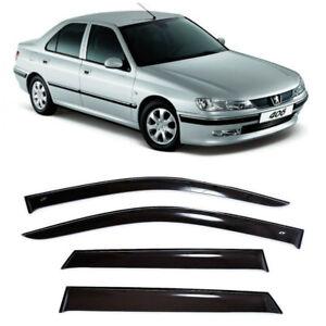 For Peugeot 406 Sd 1995-2005 Side Window Visors Sun Rain Guard Vent Deflectors