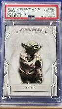 Yoda - 2018 Star Wars Masterwork SP #107    PSA 10