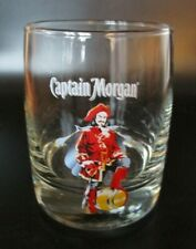 Captain Morgan Rum Pirate Rocks Lowball Cocktail Drinking Glass Jamaica Diageo
