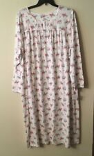 NWT Croft & Barrow  Long Sleeve Nightgown White with Red Cardinals  4X