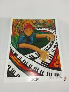 PIANO PIANIST POSTER PLAYING MANY PIANOS MUSIC John Bulisy 2001 11 x 14""