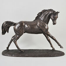 Cantering Arabian Bronze Horse Sculpture Statue by Harriet Glen H26cm (01444