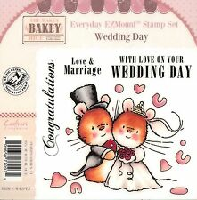 WEDDING DAY Mouse Unmounted Rubber Stamps Set MAKEY BAKEY MICE MBM-E-WED-EZ New
