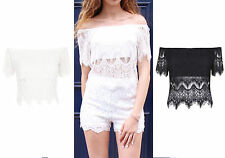 Unbranded Lace Cropped Tops & Shirts for Women