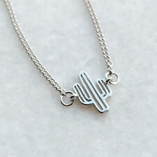 Cactus Necklace - Small Charm Tropical Western Plant Charm Kitsch Jewellery UK