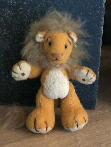 Artisan Handmade Dollhouse Miniature Stuffed Lion! OOAK!