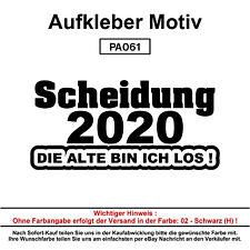 Scheidung 2020 - 1 - Autoaufkleber Aufkleber Fun Spaß Sticker Lustige Sprüche