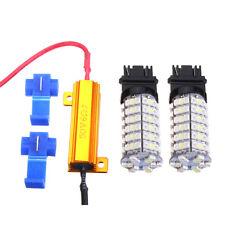 3157 6000K 60SMD Dual Color Switch Backwards White Amber Turn Signal LED Lights