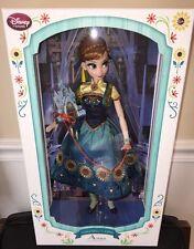 "Disney Store ANNA FROZEN FEVER 17"" Limited Edition Designer Doll MINT NRFB"