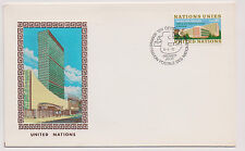 United Nations FDC 1972 Palace of Nations w Copecrest Woven Cachet - Tapestry! |