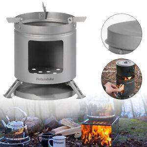 Portable Camping Stove Wood Burner Titanium BBQ Firewood Outdoor Cooker Picnic