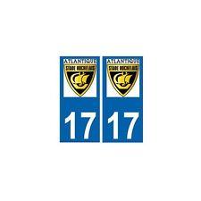 17 Atlantique stade rochelais rugby autocollant plaque La rochelle droits