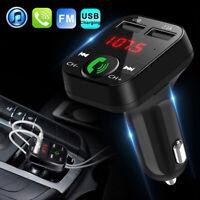 Kit Transmetteur Mains Libres Chargeur Bluetooth Voiture Sans Fil MP3 2USB FM G