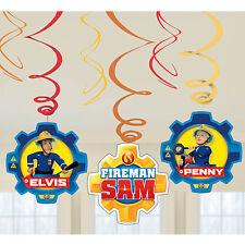 Fireman Sam Children's Happy Birthday Hanging Swirls Party Banner Decoration