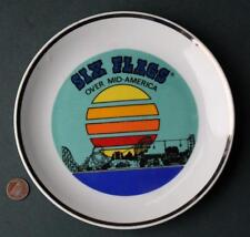1970-80s Era St.Louis,Missouri Six Flags Over Mid America Amusement Park Plate!