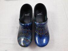 New Dansko Women's Twin Pro Tranqulity Shoes  40 10  Blue Patent Clogs