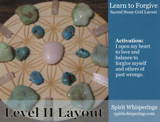 LEARN TO FORGIVE Crystal Grid Card 4x5inch Heavy Card Stock Flower of Life