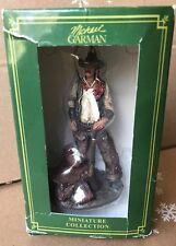 Michael Garman Miniature Sculptures/Ornaments - Man w/ Saddle and Gun