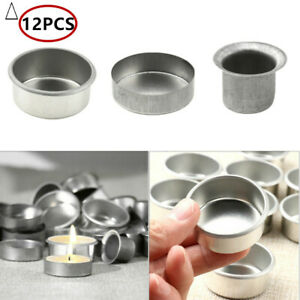 12 Pcs Metal Candle Cups Standard Tapered Wax Cup Hardware Accessories for Party