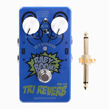Biyang Guitar Effects Pedal RV-10 Stereo Tri Reverb True Bypass+Free Connector