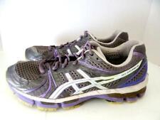 ASICS Gel-Kayano 18 Women Size 9.5 Shoe Gray White Purple Running Trainers T2C9N
